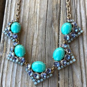 Stella & Dot Turquoise Crystal Chunky Necklace!